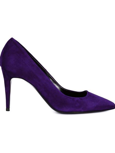 manolo blahnik hardy suede shoes in pink pink purple lyst
