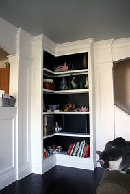 Black Built in Bookshelves