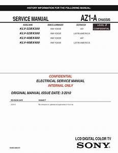 Sony Kdl-32bx300  Kdl-40bx400 Service Manual