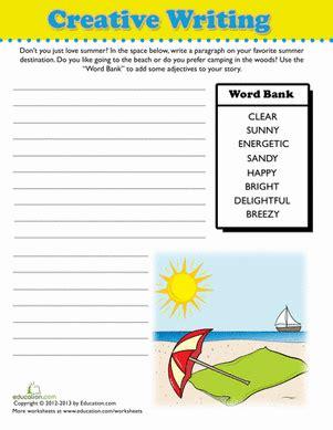 summer writing prompt worksheet education