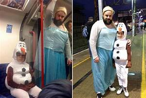 ¡El padre del año! Se disfraza de Elsa de Frozen para acompañar a su hija