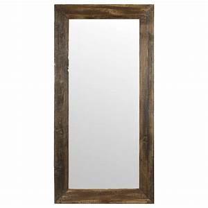 Miroir Cadre Bois : miroir avec cadre effet bois de grange ~ Teatrodelosmanantiales.com Idées de Décoration