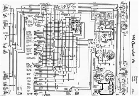 2005 Chevy Impala Ignition Switch Wiring Diagram by 1959 Chevrolet V8 Impala Electrical Wiring Diagram All