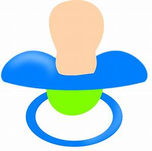 Blue Pacifier Clip Art at Clker.com - vector clip art ...