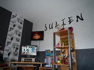 Papier Peint Bureau : papier peint chambre ado garon chantemur ~ Melissatoandfro.com Idées de Décoration