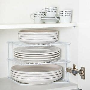 Plate Rack For Cupboard by Wire Add A Shelf Corner Plate Rack For Kitchen Cupboard