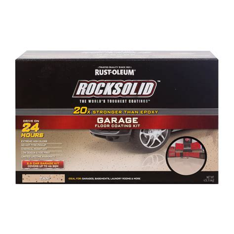 Rust Oleum Tan RockSolid Garage Floor Coating   2.5 Car