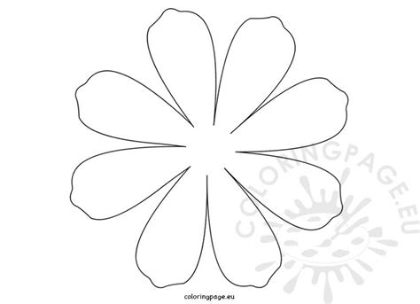 printable flower daisy  petal coloring page