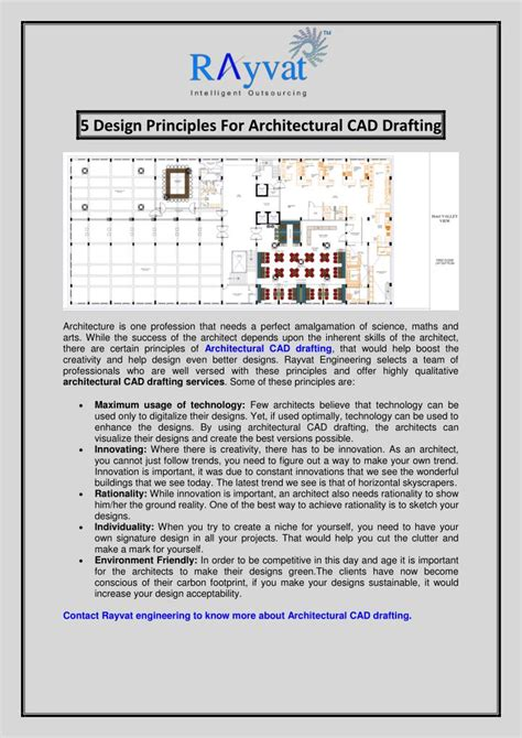 Ppt  5 Design Principles For Architectural Cad Drafting