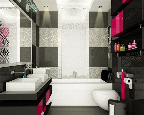 black and pink bathroom ideas pink black bathroom design bathroom