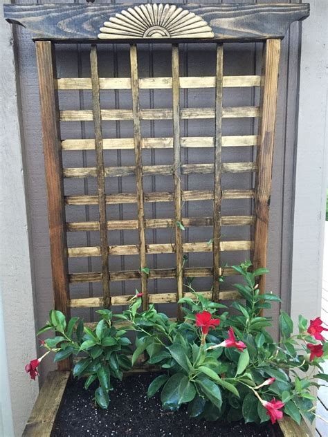 planters with trellis hometalk diy raised planter with trellis