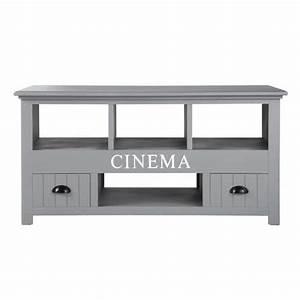 Maison Du Monde Meuble Tv : meuble tv en bois gris l 120 cm newport maisons du monde ~ Preciouscoupons.com Idées de Décoration