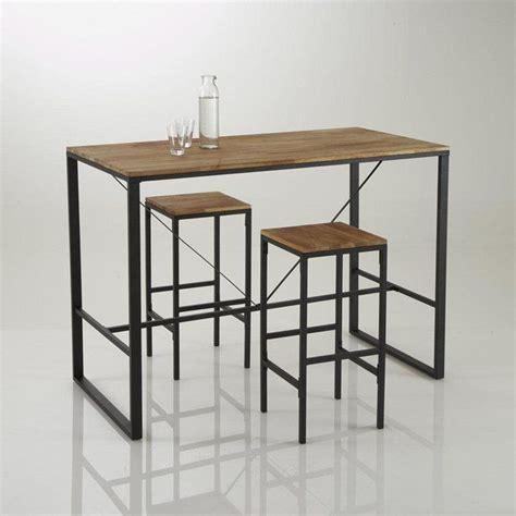 la redoute table cuisine tabouret de bar haut forme carrée hiba lot de 2 la redoute interieurs prix avis