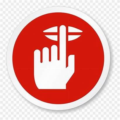 Quiet Please Sign Symbol Finger Clipart Lips