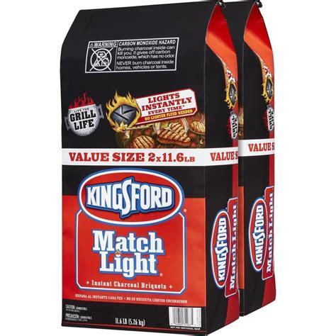 match light charcoal shop kingsford match light 2 pack 11 6 lb charcoal