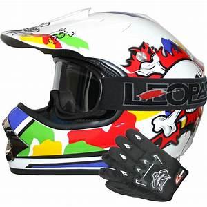 Motocross Helm Brille : leopard leo x18 kinder motorradhelm motocross helm ~ Jslefanu.com Haus und Dekorationen