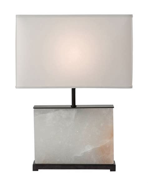tall rectangular l shade b212l alabaster and bronze table l with rectangle shade