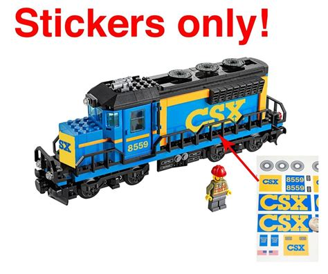 Custom CSX stickers LEGO 60052 Cargo Train Conrail Norfolk ...