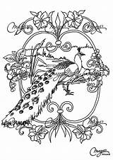 Peacock Coloring Pages Adult Peacocks Animals Adults Printable Nature Justcolor Few Children sketch template