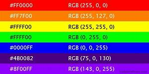 Hex and standard RGB of Rainbow colors | Baby Girl's First ...