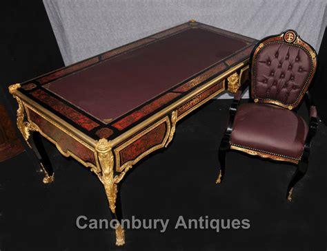 bureau louis large boulle louis xvi desk writing table bureau plat