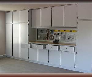 Silver color garage cabinets cabinet systems designs ideas for Garage cabinets design