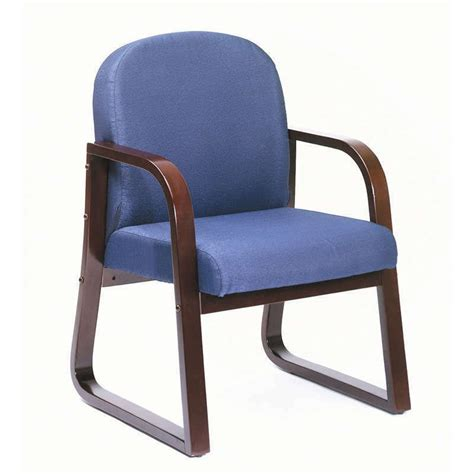 Office Chairs For Guests by Mahogany Frame Side Guest Office Chairs With Blue