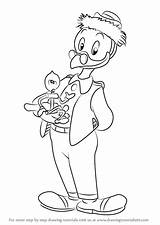 Ducktales Gyro Gearloose Draw Drawing Gyroscope Coloring Pages Step Cartoon Sketch Templates Template sketch template