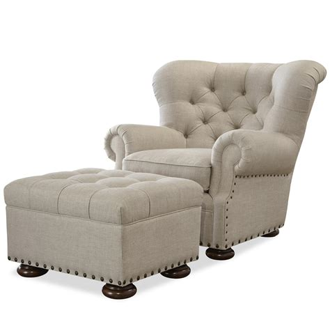 universal maxwell chair and ottoman set with button
