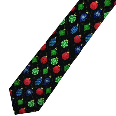 christmas baubles novelty tie from ties planet uk
