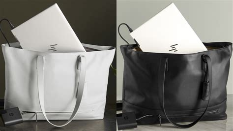 buy hp  tech tote premium leather laptop handbag