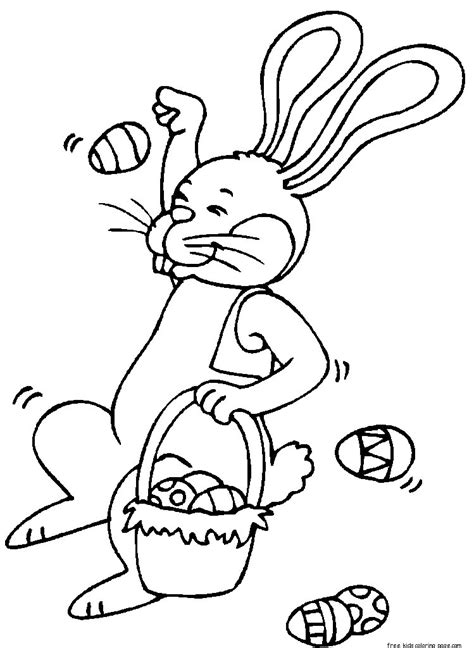 printable easter bunny throwing eggs coloring bookfree printable coloring pages  kids