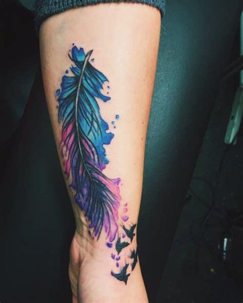 tatouages de plumes aigle hibou colombe