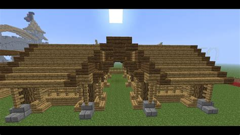 minecraft medieval stable tutorial   build  stable youtube