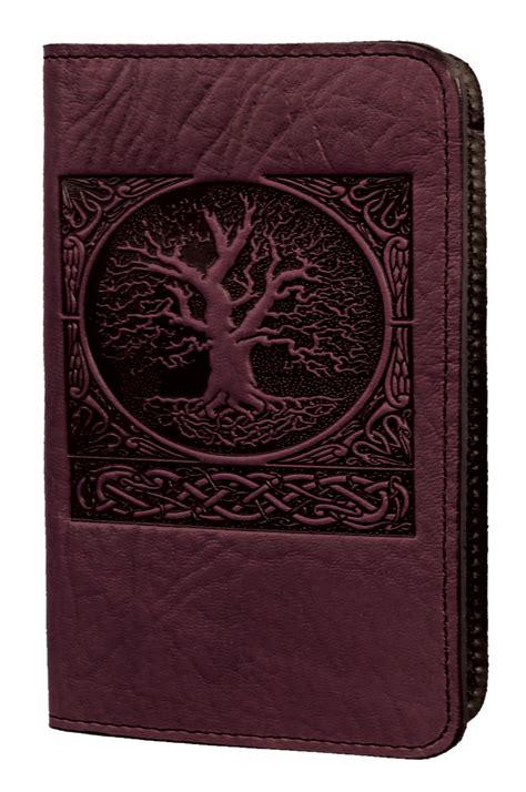 leather card holder mini wallet world tree oberon design