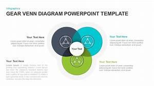 Gear Venn Diagram Powerpoint Template