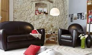 Fauteuil Club Alinea : deco salon canape club cuir noir alinea ~ Melissatoandfro.com Idées de Décoration