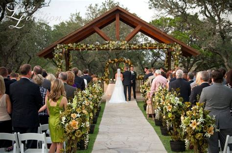 wedding ceremony and reception at different locations outdoor wedding venues outdoor wedding ceremony site near san antonio boulder springs