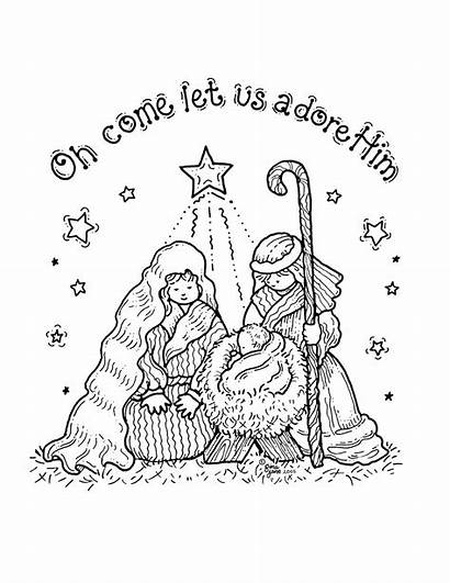 Nativity Coloring Pages Printable Sheets