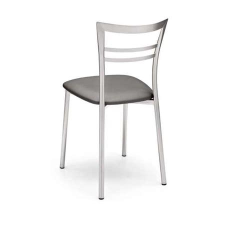 chaises de cuisine modernes chaise de cuisine rembourrée en synthétique et métal go