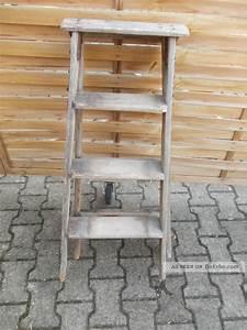 Alte Leiter Deko : alte kleine holz leiter deko leiter ~ Watch28wear.com Haus und Dekorationen