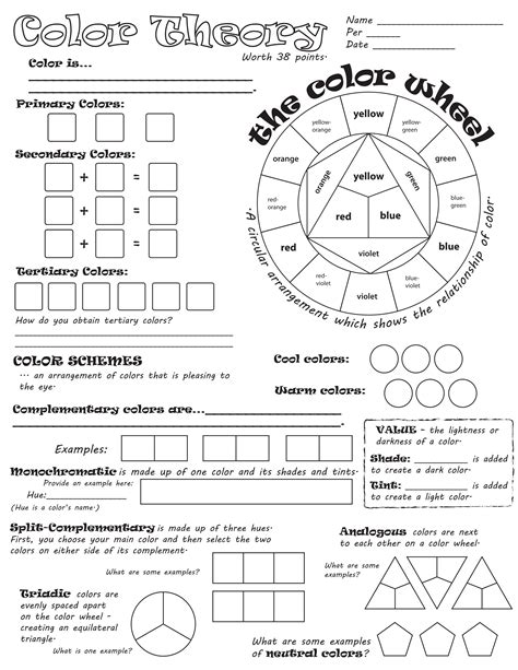 worksheet  images art education lessons elements