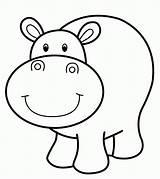 Hippo Colorare Vocale Uniquecoloringpages sketch template