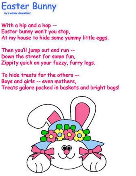 easter recitations for preschool easter bunny poem easter crafts student 680