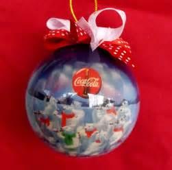 1995 coca cola coke polar bear christmas xmas ornament 13 inches with bow cute ebay