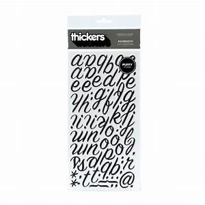 thickers puffy vinyl alphabet letter stickers rain black 5 With black vinyl letter stickers