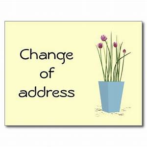 chives change of address card template postcards With change of address postcard template