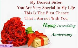 best wishes quotes for sister wedding image quotes at With best wishes for first wedding anniversary