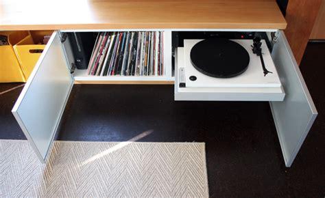 diy record player cabinet media bench chezerbey