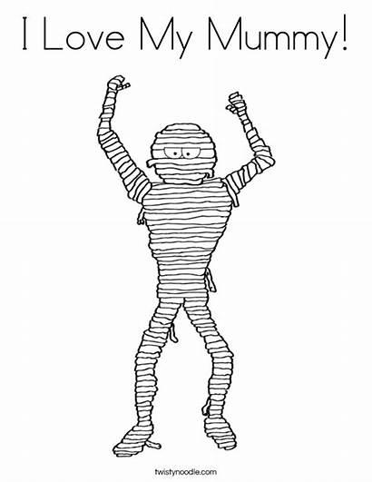 Coloring Mummy Built California Usa Twistynoodle Tracing